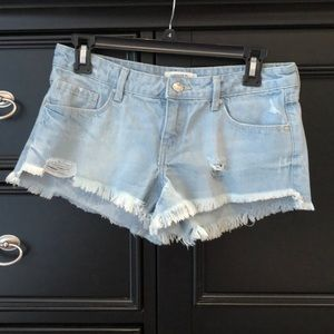 Forever 21 Frayed Jean Shorts Size 27
